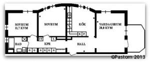 3 rum och kök